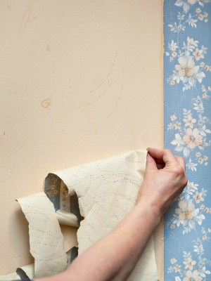 Wallpaper removal in Columbia, Maryland by Harold Howard's Painting Service.