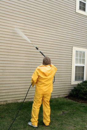 Pressure washing in Clarksville, MD by Harold Howard's Painting Service.
