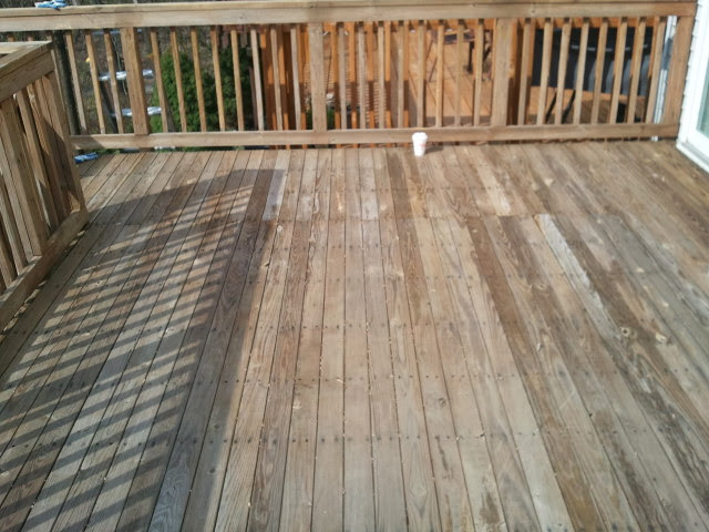 Before Deck Staining Columbia, MD